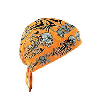 Bandanna Tribal Skull - Orange