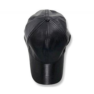 Kožená kšiltovka black