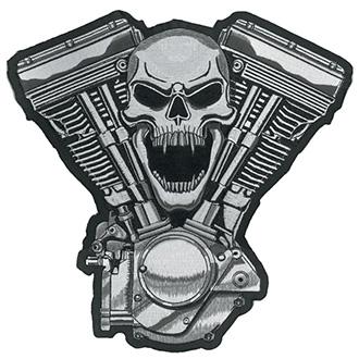 Nášivka Skull Motor 30,5 x 33 cm