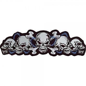 Nášivka String of Skulls 15 x 35,5 cm