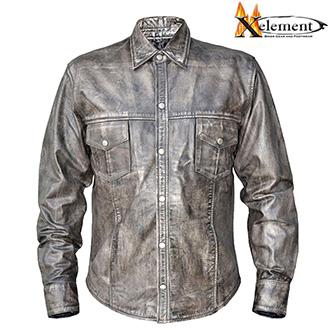 Kožená košile XELEMENT GREY