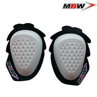 MBW kolenní slidery - bílé