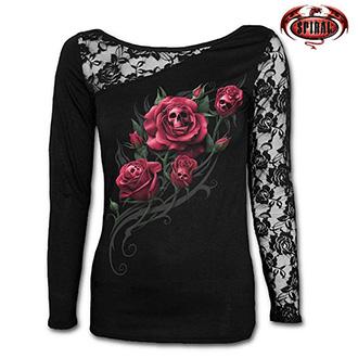 Tričko dlouhý rukáv dámské - SPIRAL Death Rose