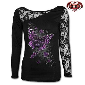Tričko dlouhý rukáv dámské - SPIRAL Butterfly Skull