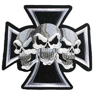 Nášivka Punk Skulls Cross střední