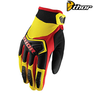 Rukavice THOR SPECTRUM S8 YELLOW/RED