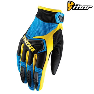 Rukavice THOR SPECTRUM S8 BLUE/YELLOW