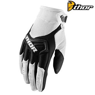 MX rukavice dětské - THOR SPECTRUM S8Y WHITE/BLACK