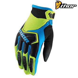 MX rukavice dětské - THOR SPECTRUM S8Y GREEN/BLUE