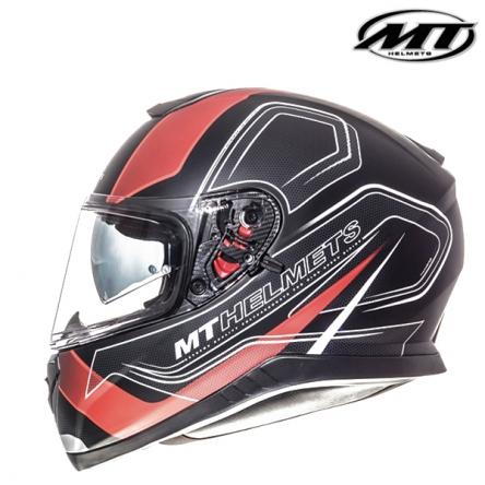 Helma MT THUNDER 3 MATT BLACK/RED