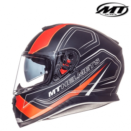 Helma MT THUNDER 3 MATT BLACK/ORANGE