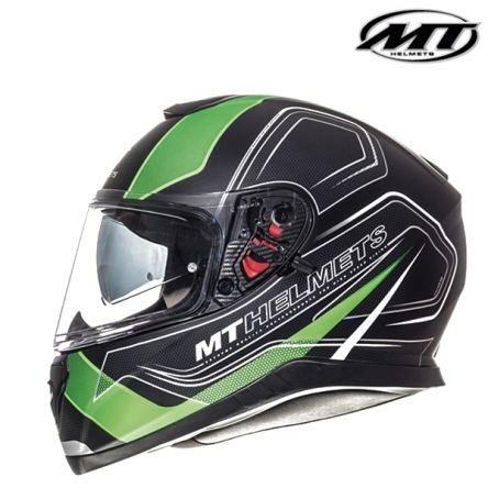 Helma MT THUNDER 3 MATT BLACK/GREEN