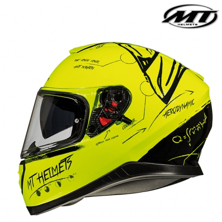 Helma MT THUNDER 3 FLUOR YELLOW