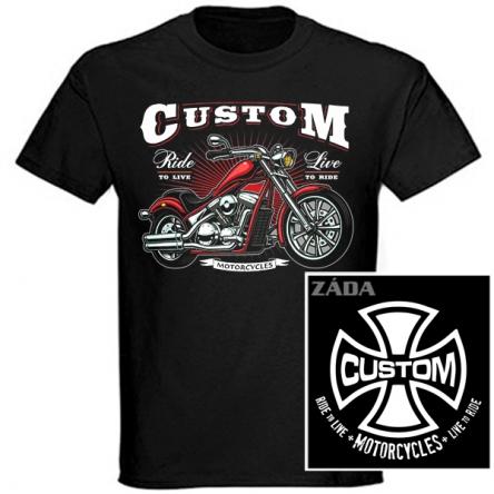 Tričko krátký rukáv - Custom Motorcycles