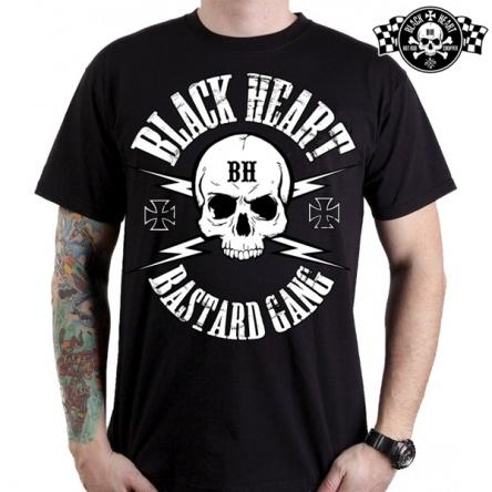 Tričko pánské BLACK HEART Bastard Gang Skull