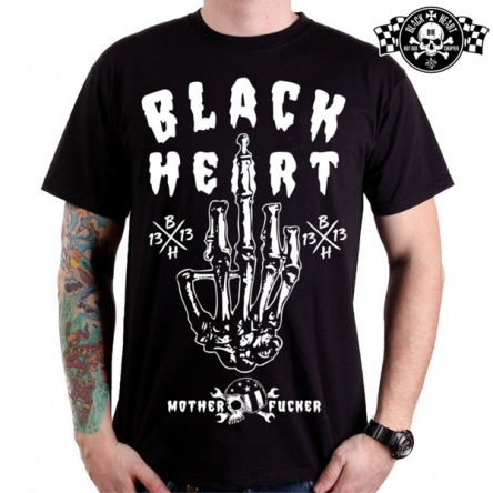 Tričko pánské BLACK HEART Fucker