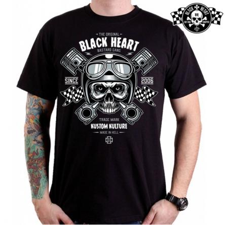 Tričko pánské BLACK HEART Piston Skull