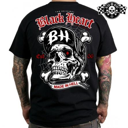 Tričko pánské BLACK HEART Skull Bones