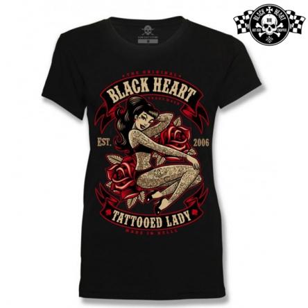 Tričko dámské BLACK HEART Tattoo