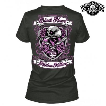 Tričko dámské BLACK HEART Shield