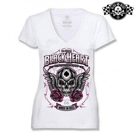 Tričko dámské BLACK HEART Royal WHT-V