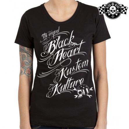 Tričko dámské BLACK HEART Kustom Kulture