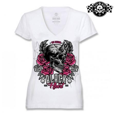 Tričko dámské BLACK HEART Devil Rose WHT-V