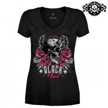 Tričko dámské BLACK HEART Devil Rose V