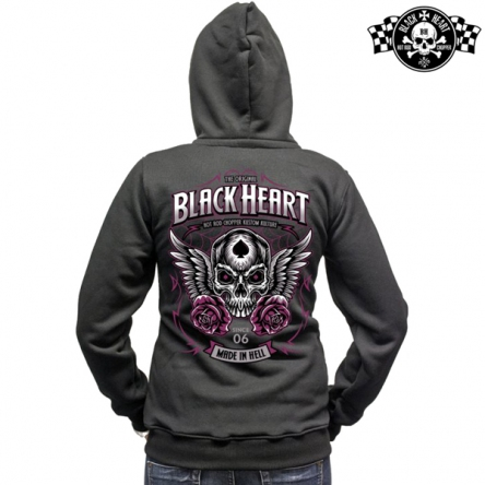 Mikina s kapucí dámská BLACK HEART Royal Zipper