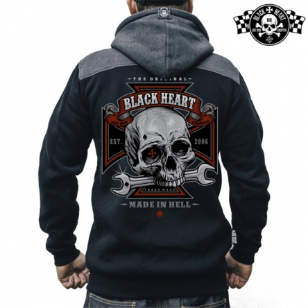 Mikina s kapucí pánská BLACK HEART Repairman Zipper