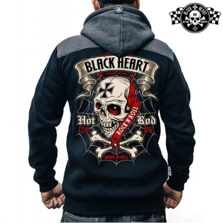 Mikina s kapucí pánská BLACK HEART Crusty Demons Zipper