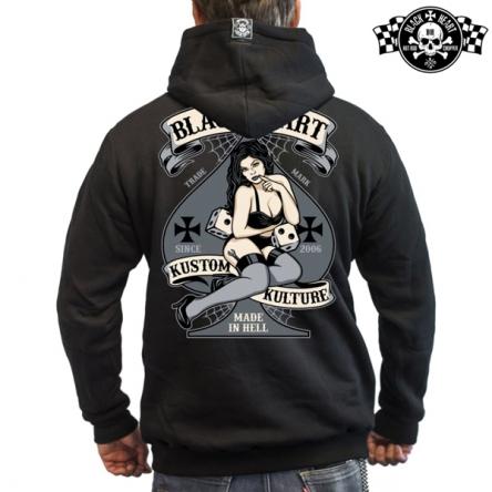 Mikina s kapucí pánská BLACK HEART Hot Rod Bell Zipper