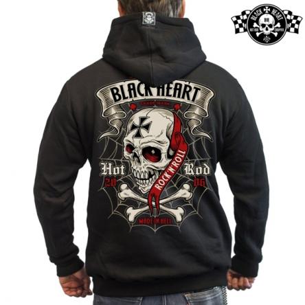 Mikina s kapucí pánská BLACK HEART Crusty Demons BLK Zipper