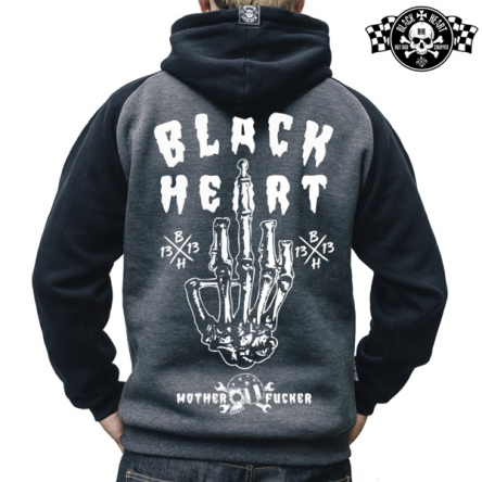 Mikina s kapucí pánská BLACK HEART Fucker