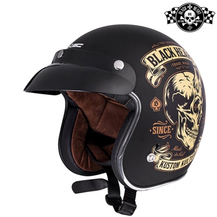 Helma BLACK HEART V541 Devil Skull