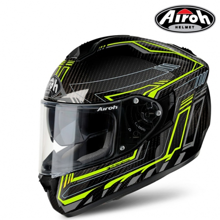 Helma AIROH ST 701 SAFETY FULL CARBON (CARBON/ŽLUTÁ)