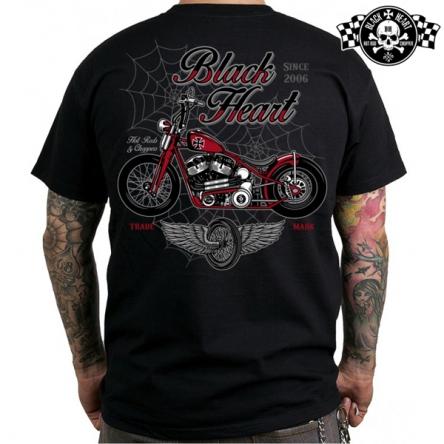 Tričko pánské BLACK HEART Red Baron Chopper
