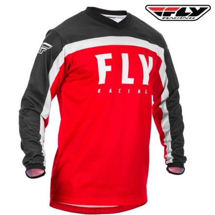 dětský dres FLY RACING F-16 2020 (červená/černá)