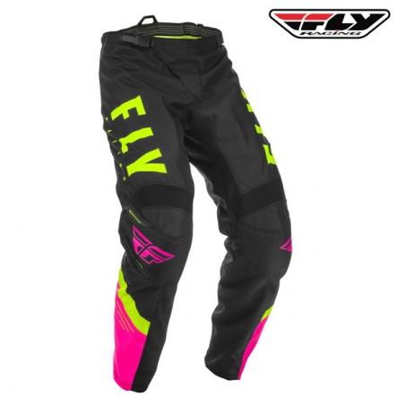 dětské kalhoty FLY RACING F-16 2020 (růžová/černá)