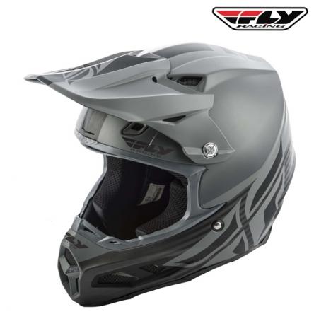 Helma FLY RACING F2 Carbon Shield (matná černá/šedá)