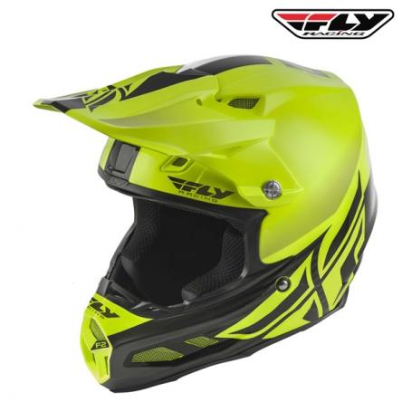 Helma FLY RACING F2 Carbon Shield (hi-vis/černá)