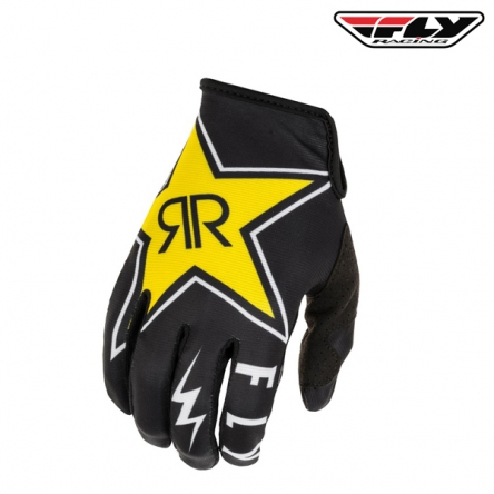 Rukavice FLY RACING Lite 2020 Rockstar (černá/bílá)