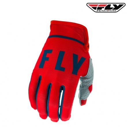 Rukavice FLY RACING Lite 2020 (červená/šedá)