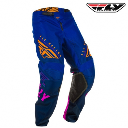 Kalhoty FLY RACING Kinetic K220 2020 (modrá/oranžová)