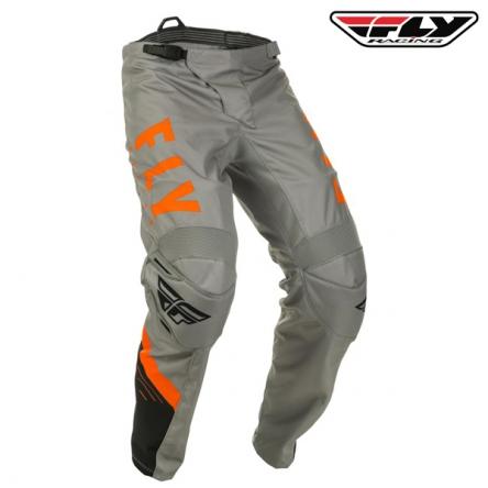 Kalhoty FLY RACING F-16 2020 (šedá/oranžová)