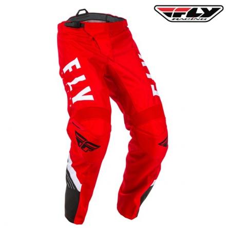 Kalhoty FLY RACING F-16 2020 (červená/bílá)