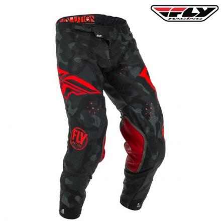 Kalhoty FLY RACING Evolution 2020 (červená/černá)