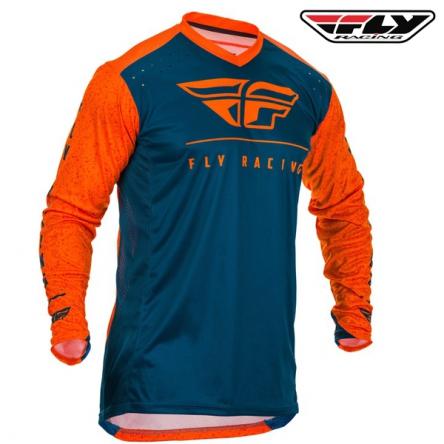 Dres FLY RACING Lite 2020 (oranžová/modrá)