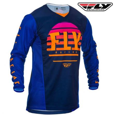 Dres FLY RACING Kinetic K220 2020 (modrá/oranžová)