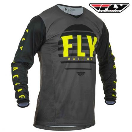 Dres FLY RACING Kinetic K220 2020 (černá/šedá)
